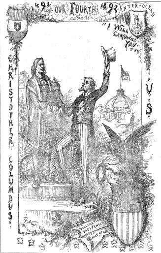 Artwork from the cover of the Chicago Inter Ocean, July 4, 1892.