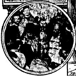 Only known surviving photo from St Raphael's consecration service, published in the Syracuse Telegram on March 17, 1904.