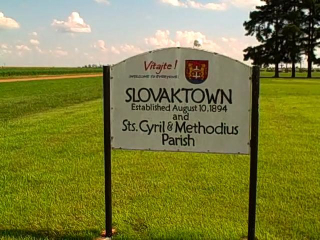 Sign in Slovak, Arkansas (courtesy Mickey Hodges)