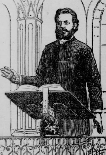 Fr. Sebastian Dabovich preaching in San Francisco, 1900.