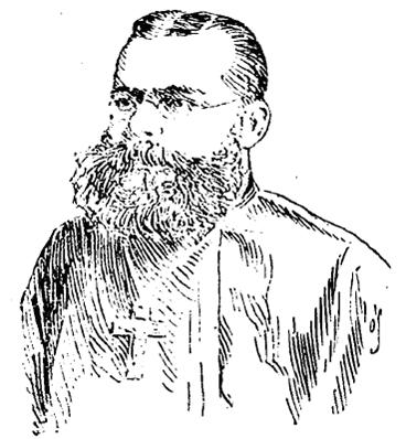 Fr. Ambrose Vretta as depicted in the Chicago Tribune, 1895
