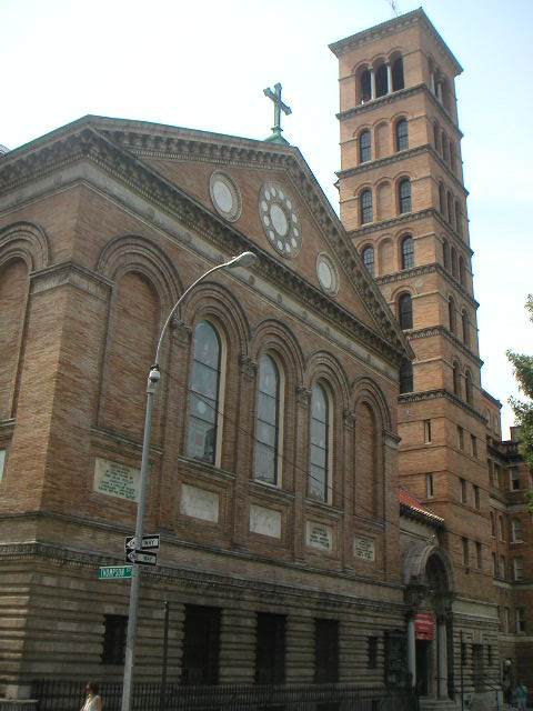 Judson Memorial Baptist Church in New York City was newly-built when the the second Greek Orthodox parish in New York, Annunciation, began to rent the basement.