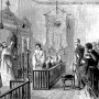 Fr. Nicholas Bjerring in his New York chapel, Thanksgiving 1871. Grand Duke Alexis of Russia is standing behind the chair to the right.