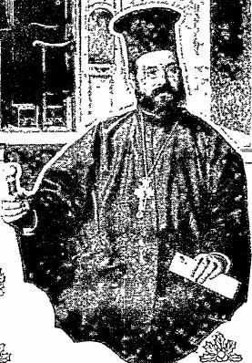 Fr. Theodore Prussianos, pastor of Evangelismos (Annunciation) Greek Orthodox Church in Philadelphia, 1905