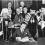 Gov. Thomas Dewey of New York signing the bill creating the Federation