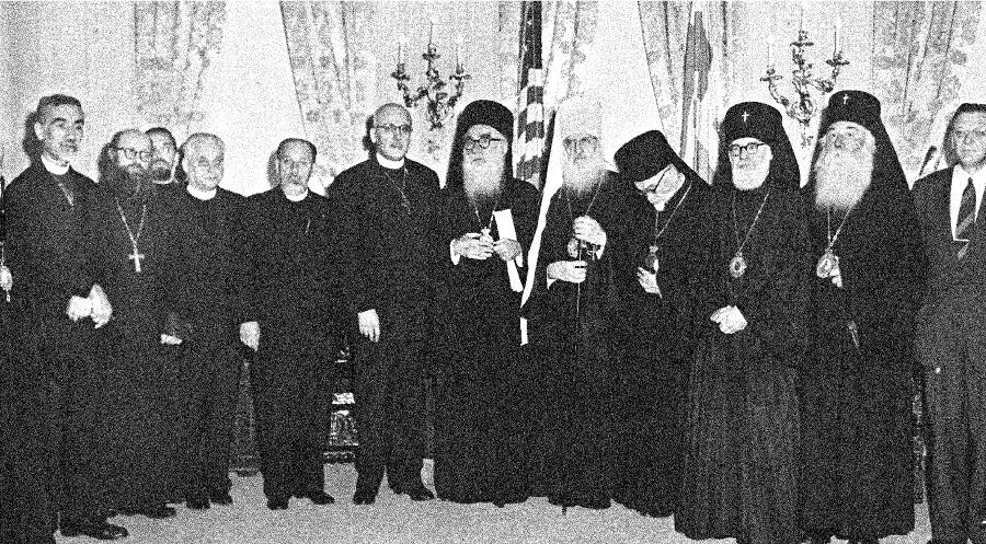 "Meeting of bishops to ""reorganize"" the Federation. This led to the creation of SCOBA in 1960."