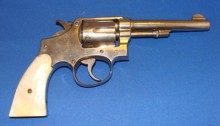 An early 20th century pearl-handled Smith & Wesson revolver, similiar to the gun St. Raphael was accused of using