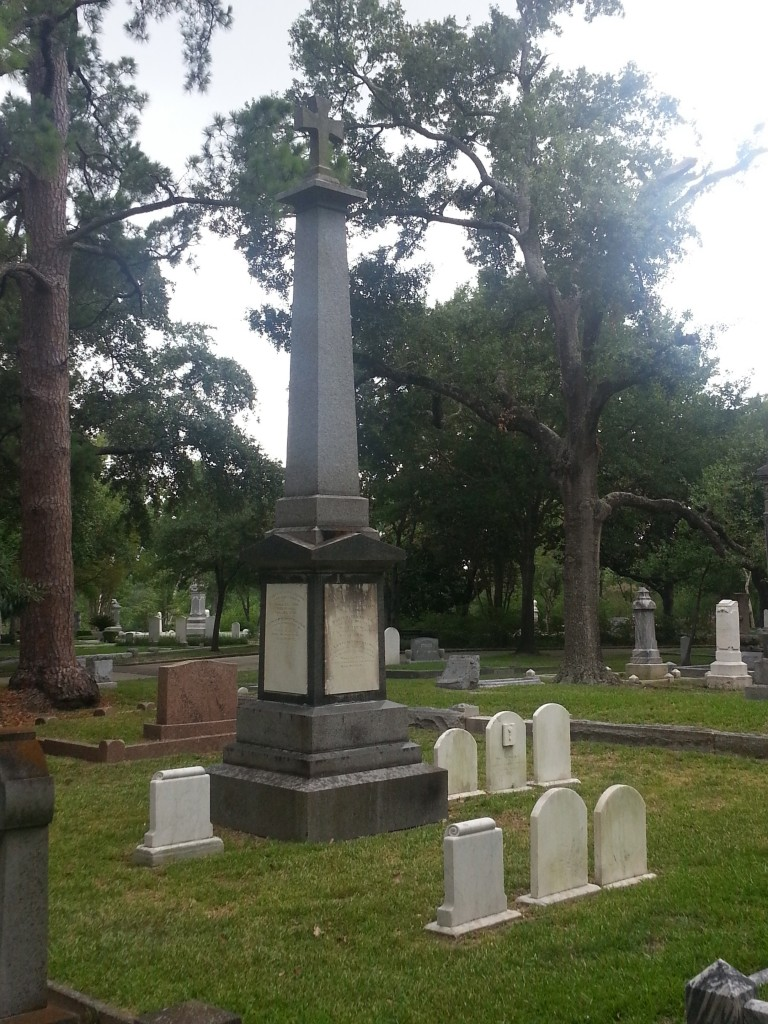 Barziza family graves in Houston, TX. The Barzizas are direct descendants of Philip Ludwell III, and the family preserved their Orthodox faith for several generations.