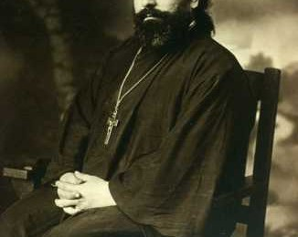 Fr. Joseph Xanthopoulos as a young priest (from the website of St. Mary Antiochian Orthodox Church, Wilkes-Barre, PA)